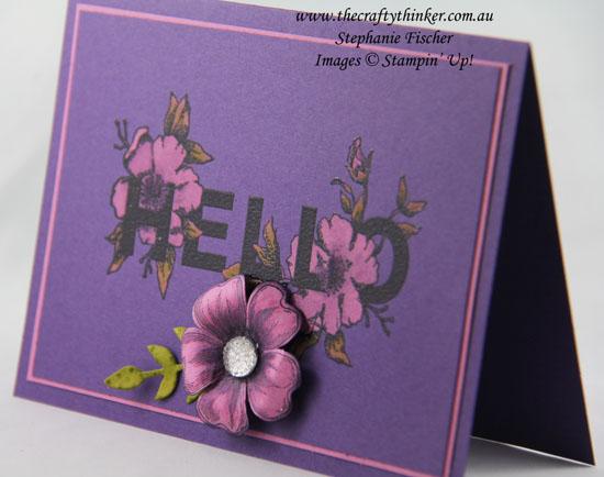Floral Statements, Bleaching, Flower Shop, #thecraftythinker, Stampin up Australia Demonstrator, Stephanie Fischer, Sydney NSW