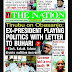 NIGERIA NEWSPAPERS: TODAY'S THE NATION NEWSPAPER HEADLINES [3RD  FEBRUARY, 2018].