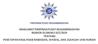 Download Penetapan Hasil Hisab Ramadhan, Syawal, dan Zulhijah 1440/2019 oleh Pimpinan Pusat Muhammadiyah