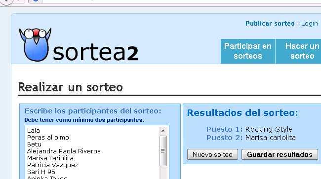 58ab5b0d7 La ganadora de la cartera de CalleTanas es Rocking Style y de la mini  bandolera es Marisa (cariolita). Felicitaciones me contacto con uds a la  brevedad.