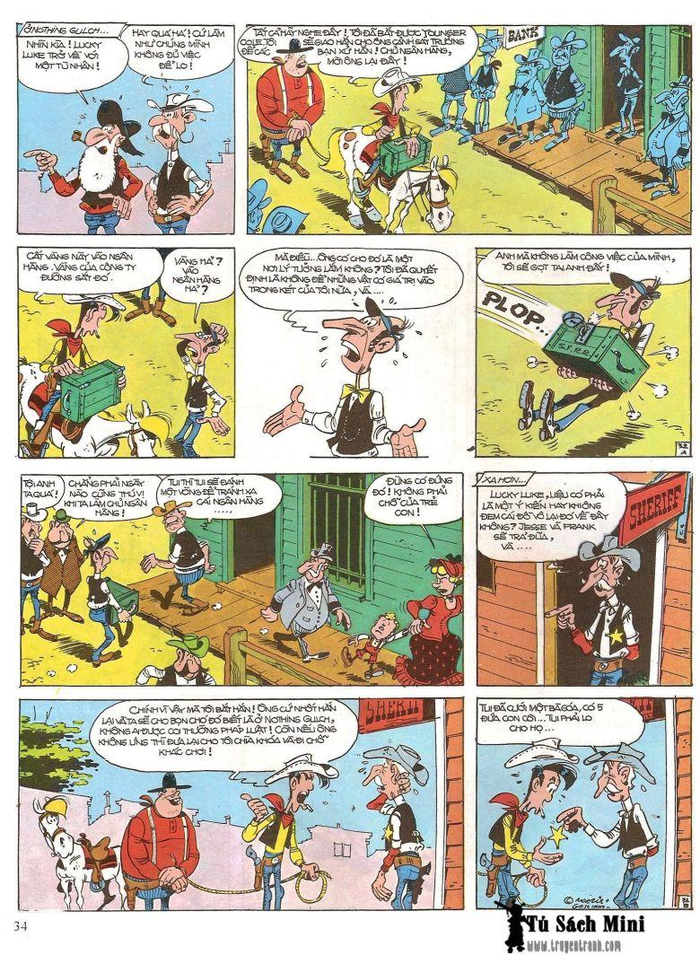 Lucky Luke tap 16 - jesse james hiep si rung xanh trang 36