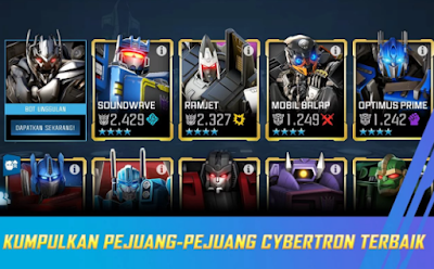 Koleksi Robot di TRANSFORMERS Forged to Fight