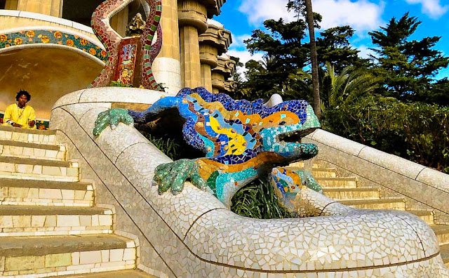 Parc Guell de Gaudí em Barcelona