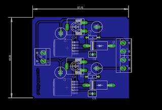 Rangkaian DC-DC konverter Stepdown Skematik dan Board