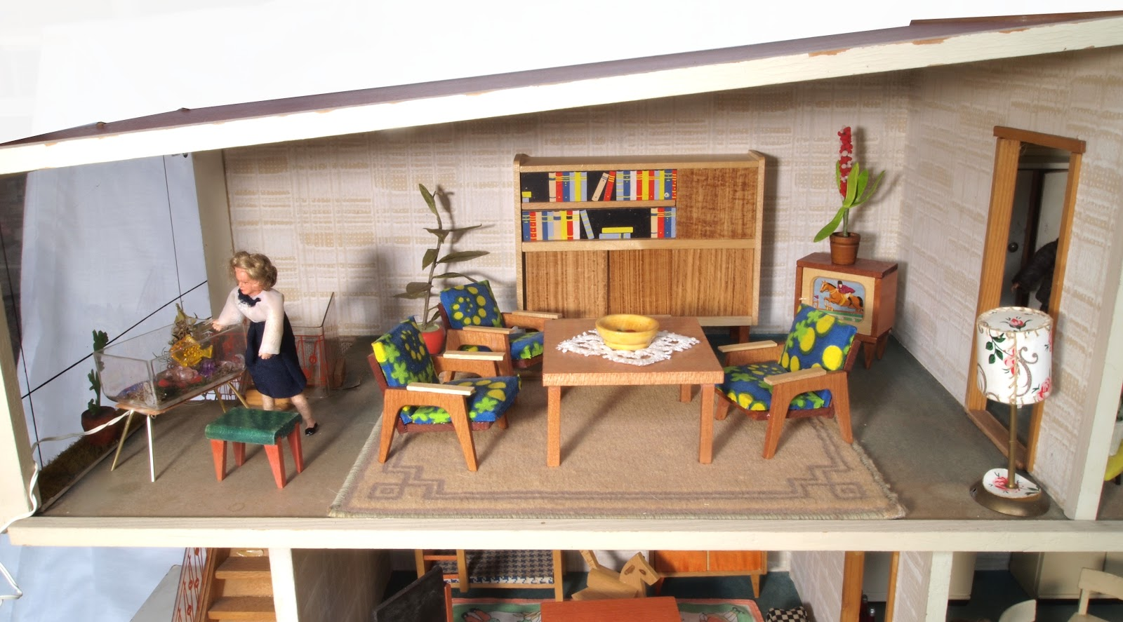 diepuppenstubensammlerin puppenhaus 1968 vero dollhouse. Black Bedroom Furniture Sets. Home Design Ideas