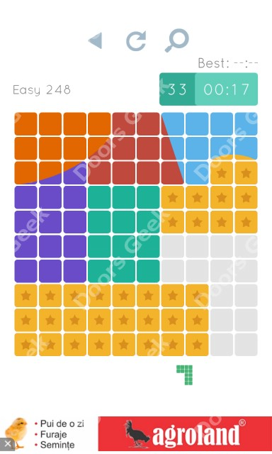 Cheats, Walkthrough for Blocks and Shapes Level 248