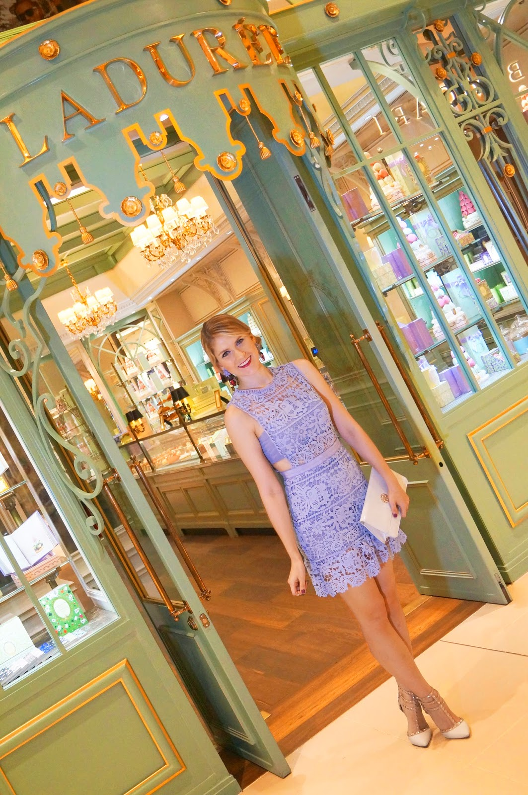 The beautiful french bakery Ladurée in Panama City
