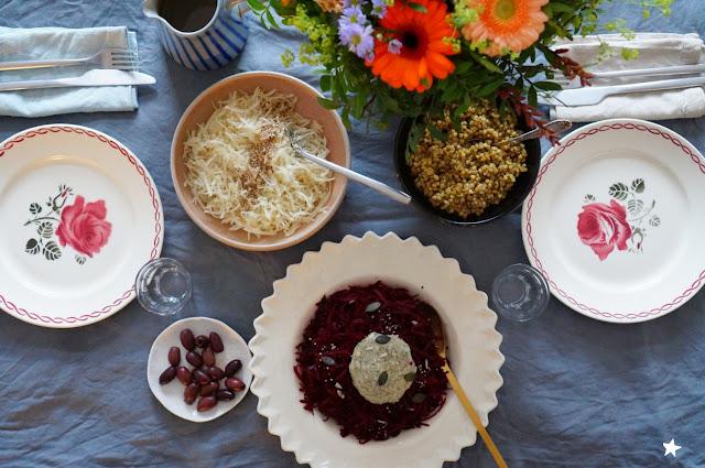betterave râpée, art de la table, vaisselle ancienne, vintage plate, table styling
