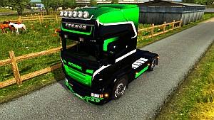 Black & Green Gradient for Scania RJL (EviL)