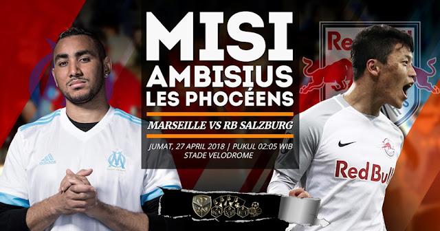 Prediksi Olympique Marseille Vs Red Bull Salzburg, Jumat 27 April 2018 Pukul 02.05 WIB