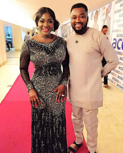 Is she wearing a waist trainer? Those curves on Mercy Johnson though