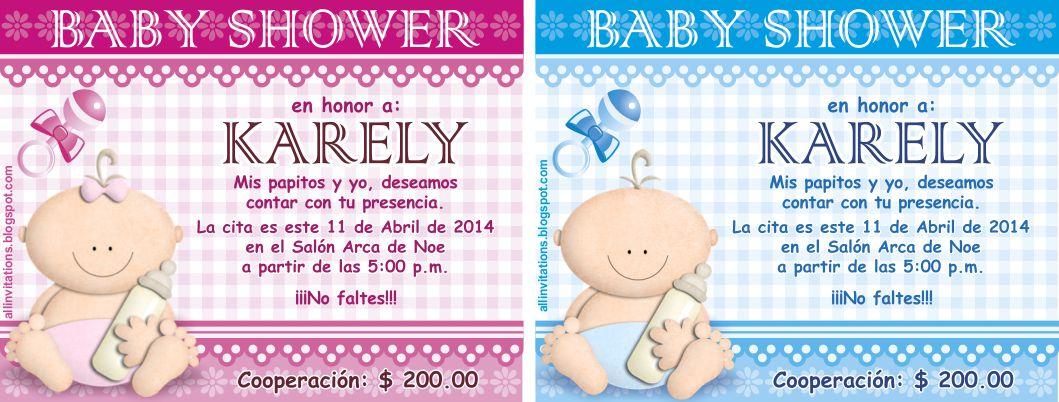 Invitacion Baby Shower Bebe Con Biberón