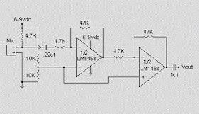 Secret Diagram: Condenser Pre Amplifier LM 1458