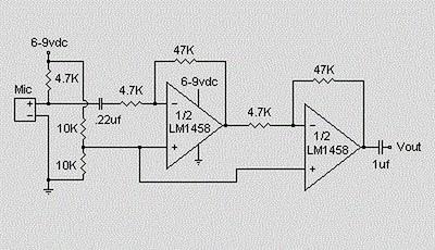 Condenser Pre Amplifier
