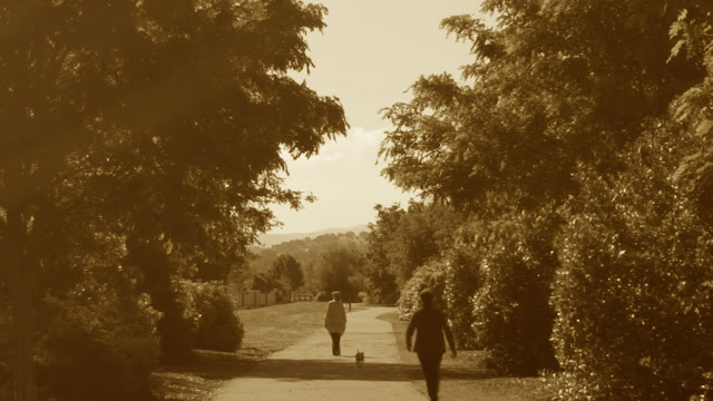 Walkers on the Iron Horse Trail