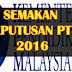Semakan Online Keputusan PT3 Tahun 2016