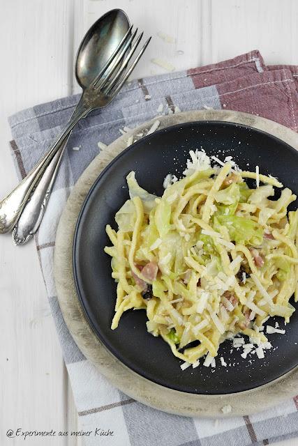 Experimente aus meiner Küche: Spätzle-Spitzkohl-Pfanne