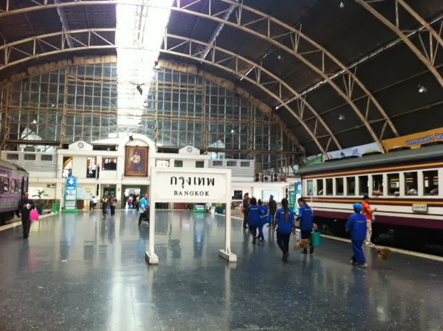 Train stations in Thailand, first station Hua Lumphon in Bangkok