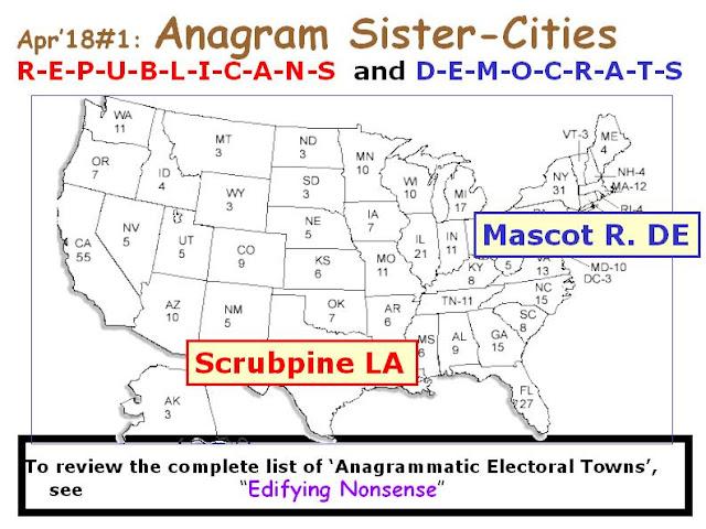DEMOCRATS: Mascot R. DE.  REPUBLICANS: Scrubpine LA.
