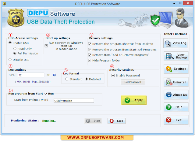 DRPU USB Data Theft Protection full
