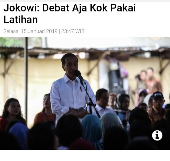 Jelang Debat Pilpres, Jokowi Sampaikan 2 Pernyataan Berbeda Soal Persiapan