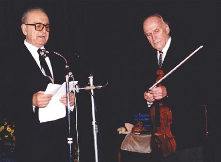 Avec Yehudi Menuhin