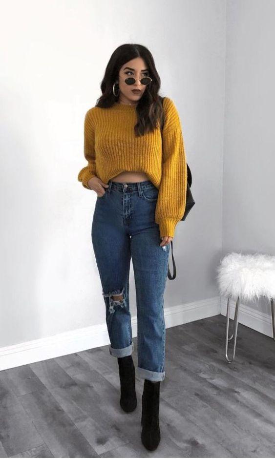 Como atualizar o look com mom jeans
