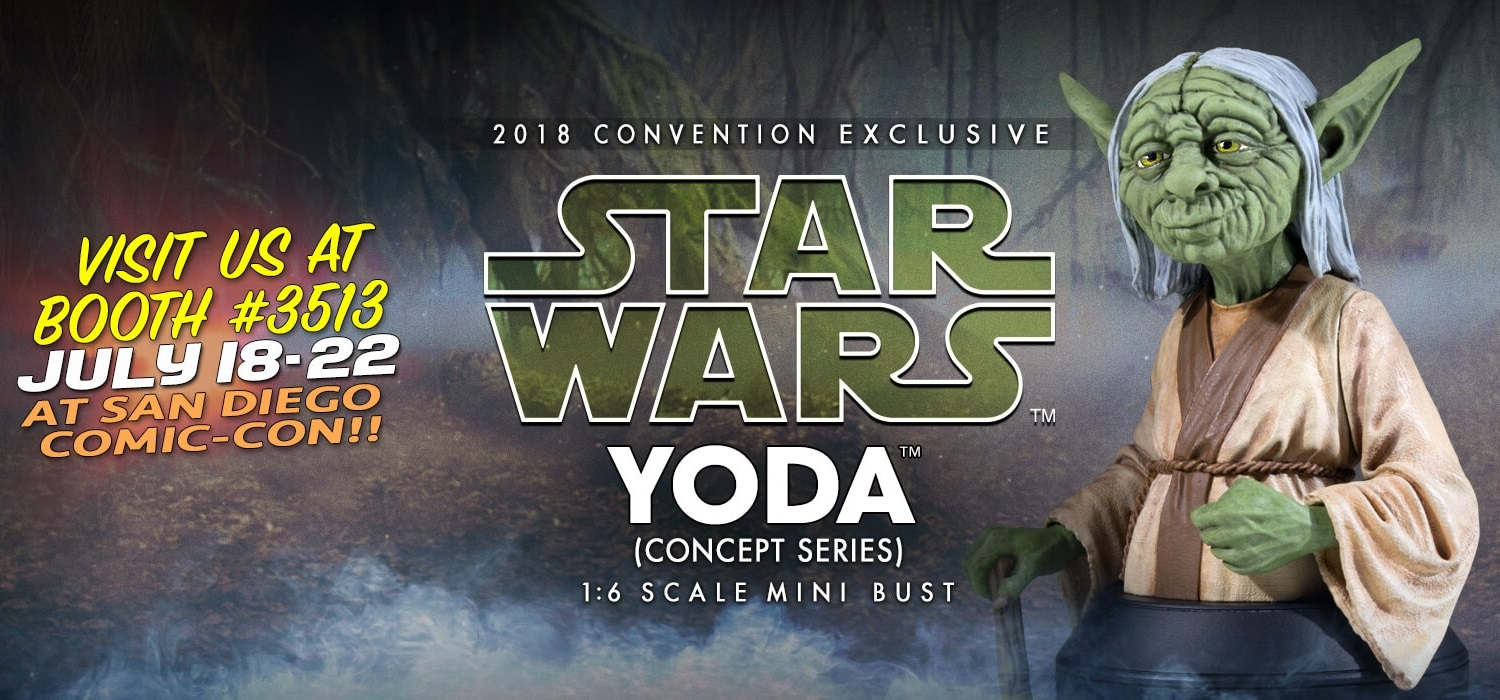 35e3ba59fefa SDCC 2018 Exclusive Star Wars Yoda McQuarrie Concept Art Mini Bust by Gentle  Giant