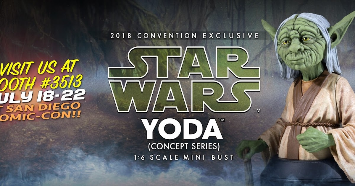purchase cheap a98ba 422cb SDCC 2018 Exclusive Star Wars Yoda McQuarrie Concept Art Mini Bust by  Gentle Giant