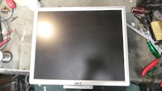 Acer AL1716 monitor repair.