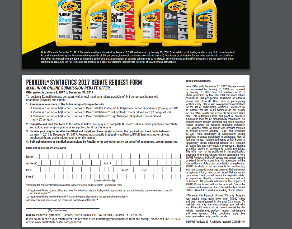 Coupons And Freebies: 5-Quart Pennzoil Platinum Full Synthetic SAE ...