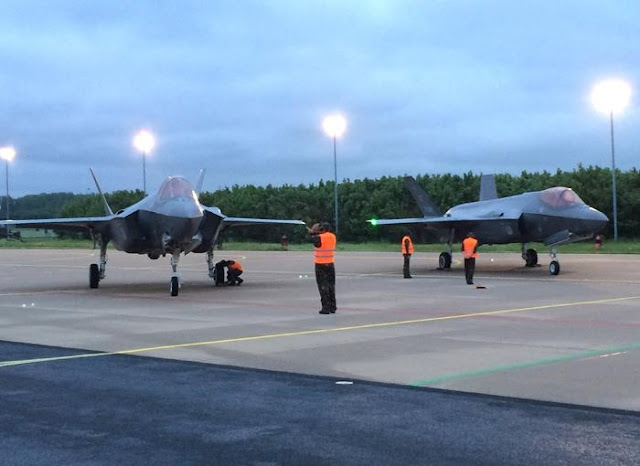FIRST TWO F-35A LANDING IN NETHERLANDS