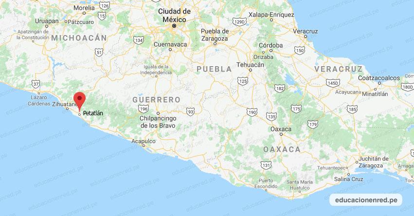 Temblor en México de Magnitud 4.2 (Hoy Miércoles 22 Enero 2020) Sismo - Epicentro - Petatlán - Guerrero - GRO. - SSN - www.ssn.unam.mx