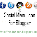Css Social Menu Icon For Blogger