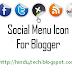 Css Social Menu Icon For Blogger