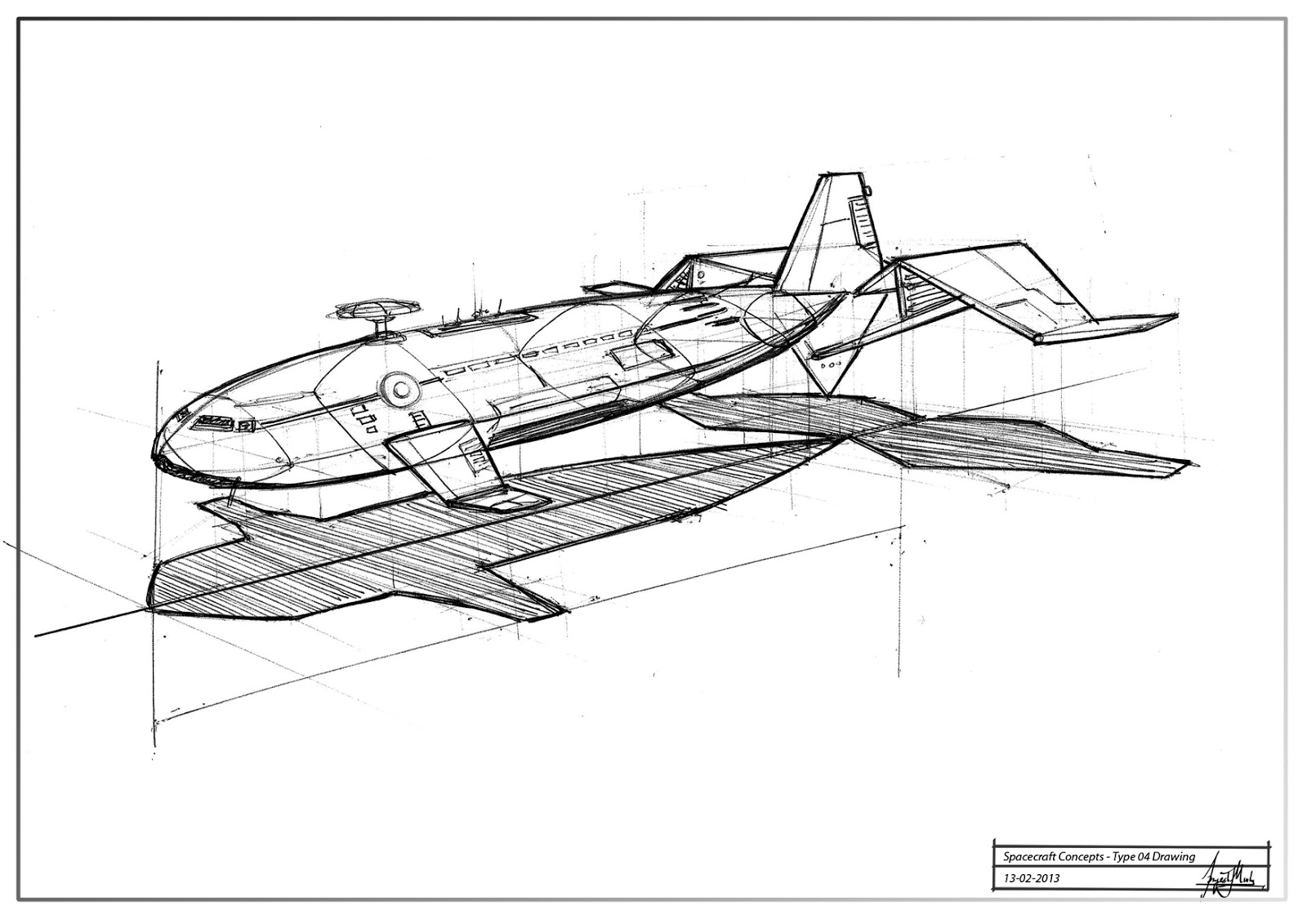 spacecraft drawing - photo #6