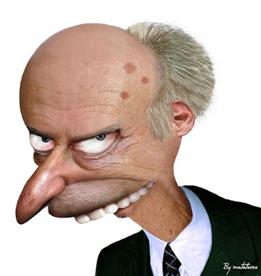Mr. Burns de The Simpsons.