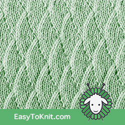 Eyelet Lace 78: Overlapping Waves | Easy to knit #knittingstitches #knittingpatterns