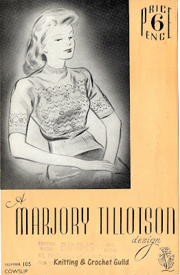 1940s vintage knitting pattern; Marjory Tillotson design