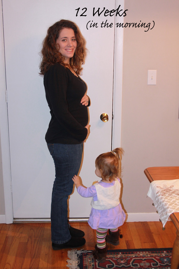 11 Weeks Pregnant. The Belly: