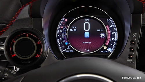 2015 Fiat 500 Abarth Digital Instrument Panel