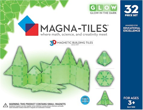 Magna Tiles 32 Piece Glow Set For 59 99 With Free Prime Shipping These Actually In The Dark 4 2 Out Of 5 Stars Over 40 Customer Reviews