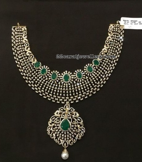 Affordable Heavy Look Diamond Necklaces by SBJ