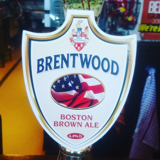 Essex Craft Beer Review: Boston Brown Ale from Brentwood real ale pump clip