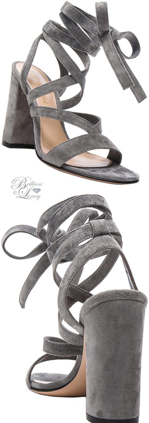 Brilliant Luxury ♦ Gianvito Rossi Suede Janis High Sandals