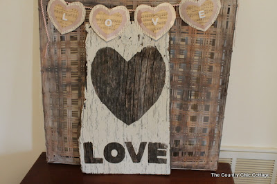 Make this love sign in minutes from barnwood! Perfect for Valentine's Day!