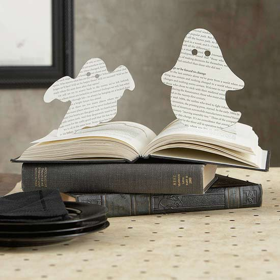 Spooky Halloween Book Page Crafts - Ghostly Book Pop-Ups