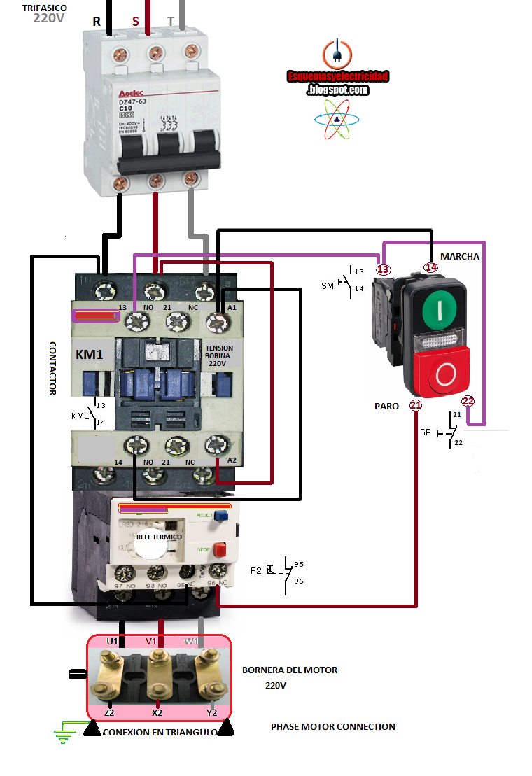 Electrical diagrams: PHASE MOTOR CONNECTION