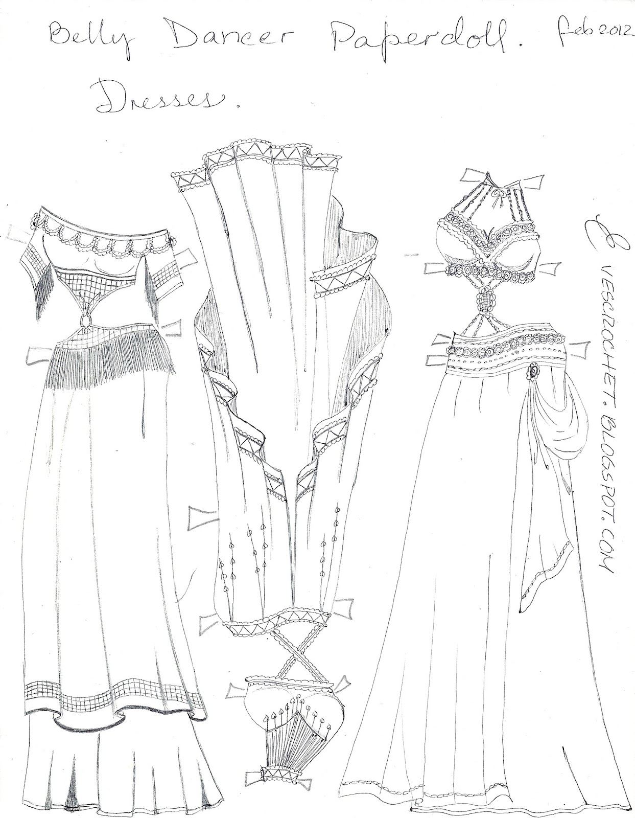 ~PAPER DOLL EVE: A GIRL DREAMS~: Belly dancer dresses to