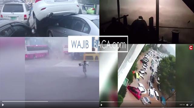 Topan Mengerikan Seperti Tsunami Luluh Lantakan Kota Busan, Korea Selatan